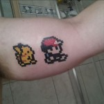 8 bit Pokemon Tattoo