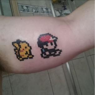 8 bit Pokemon Tattoo