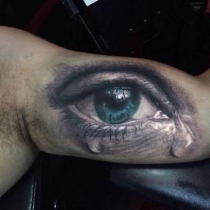 Realistic Eye Arm Tattoo