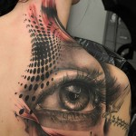 Eye Back Tattoo