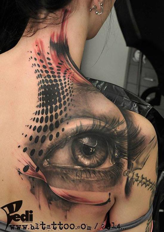 Eye Back Tattoo
