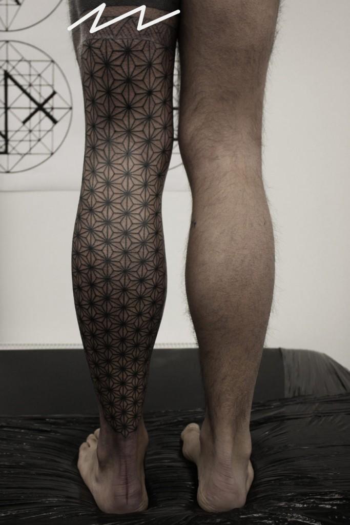 Geometric Leg Tattoo