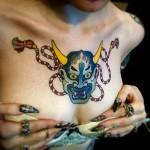 Hannya Chest Tattoo