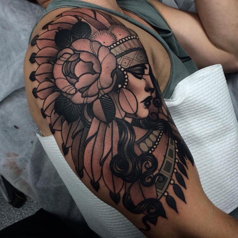 Headdress Sleeve | Best tattoo design ideas