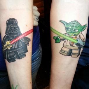 Lego Darth Vader & Yoda Tattoo