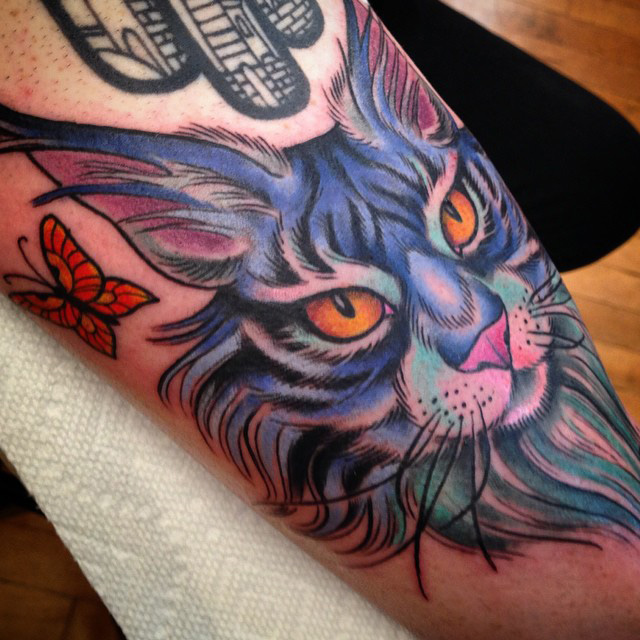 Maine Coon Cat Tattoo