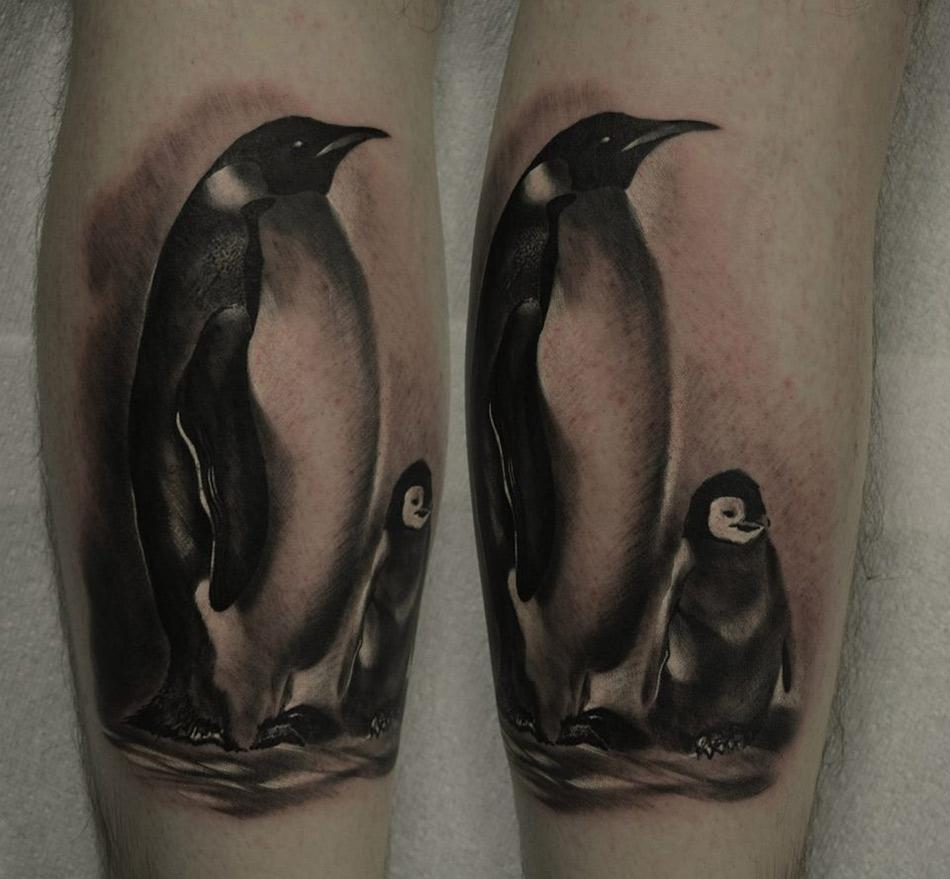 Mom & Baby Penguins