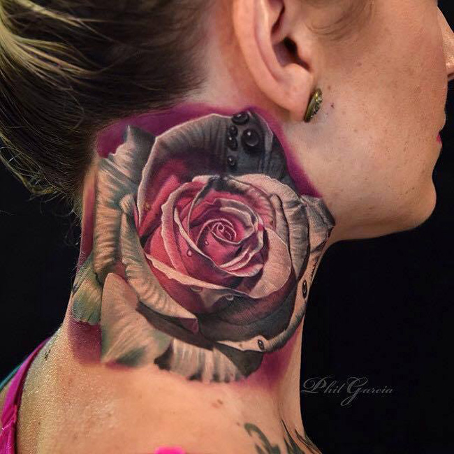2ec665b5d Rose Neck Tattoo | Best tattoo design ideas