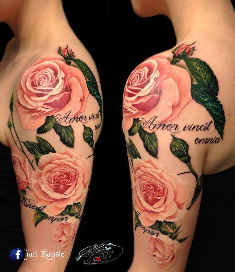 Pink roses tattoo best tattoo design ideas pink roses tattoo mightylinksfo