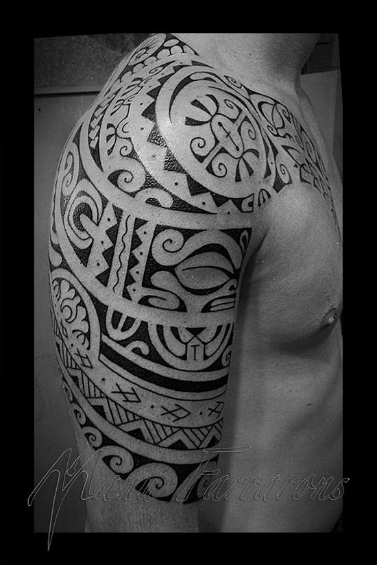tribal sleeve best tattoo design ideas. Black Bedroom Furniture Sets. Home Design Ideas