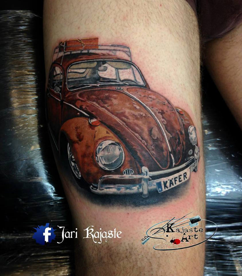 Rusty Beetle Tattoo