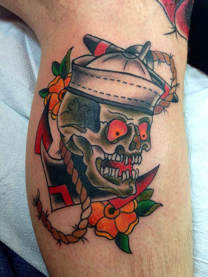 sailor skull tattoo best tattoo design ideas. Black Bedroom Furniture Sets. Home Design Ideas