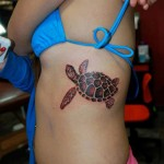 Turtle Side Tattoo