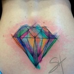 Watercolor Diamond Back Tattoo