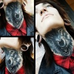 Wolf Throat Tattoo