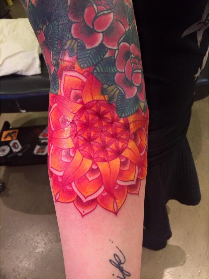 Bright Mandala Tattoo