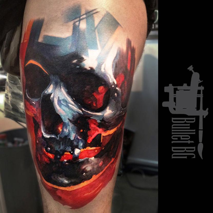 Colored Skull Tattoo