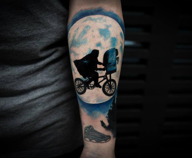 E.T. Arm Tattoo