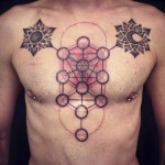 Flower of Life With Moon & Sun