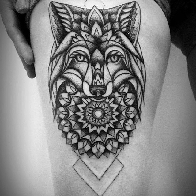 Mandala Wolf Tattoo Designs For Women I Like The: Best Tattoo Design Ideas