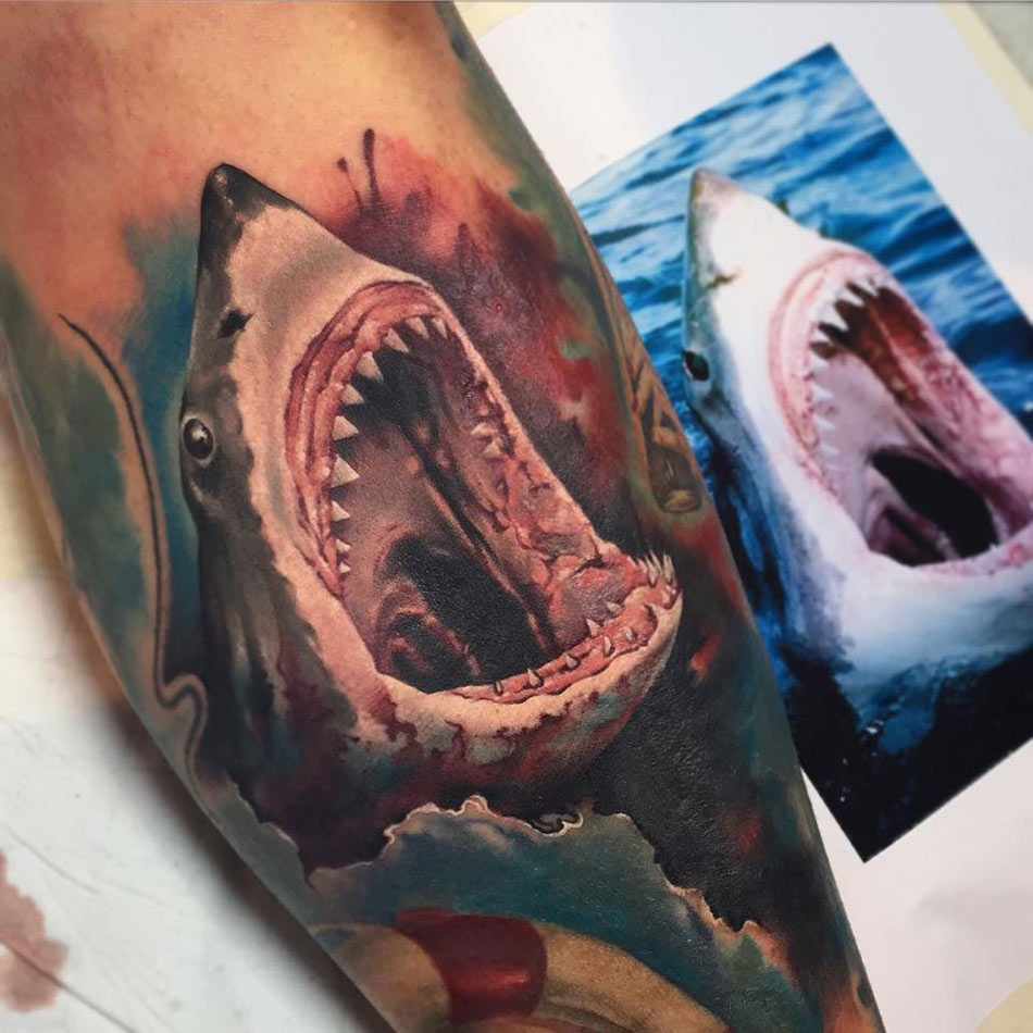 Great White Shark Tattoo