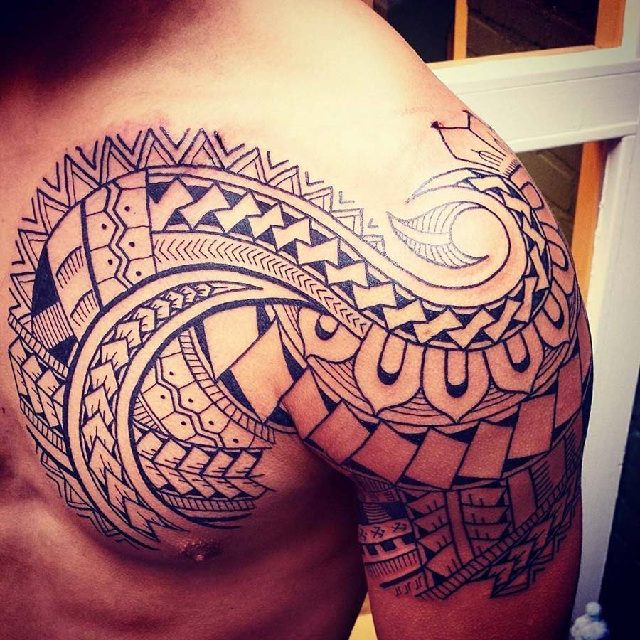 Polynesian Chest & Shoulder Piece