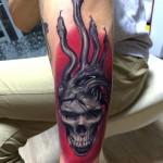 Skull & Snakes Tattoo
