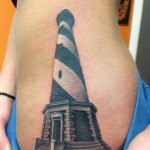 Lighthouse Side Tattoo