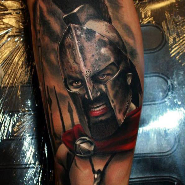 Gerard Butler Spartan Tattoo