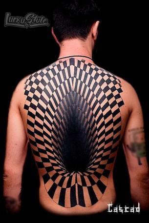 3D Back Tattoo