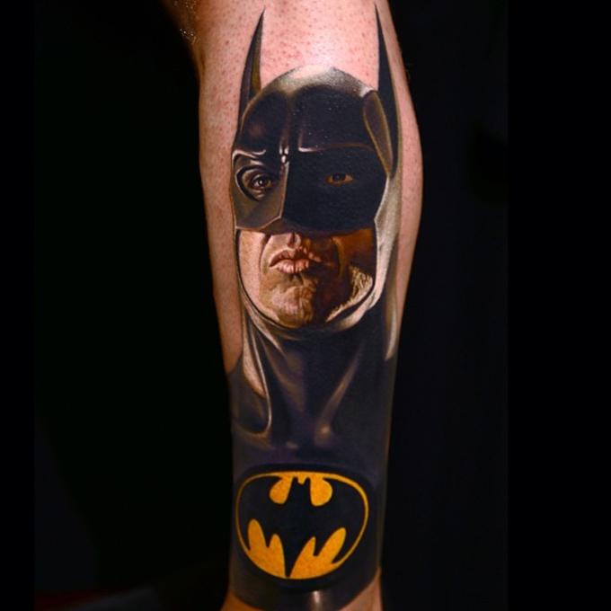 Michael Keaton as Batman | Best tattoo design ideas