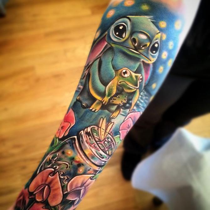 Cute Stitch Disney Sleeve