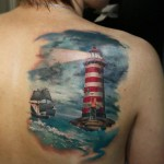 Lighthouse & Sailing Ship