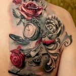 Music & Roses Tattoo