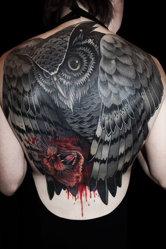 Owl Back Piece