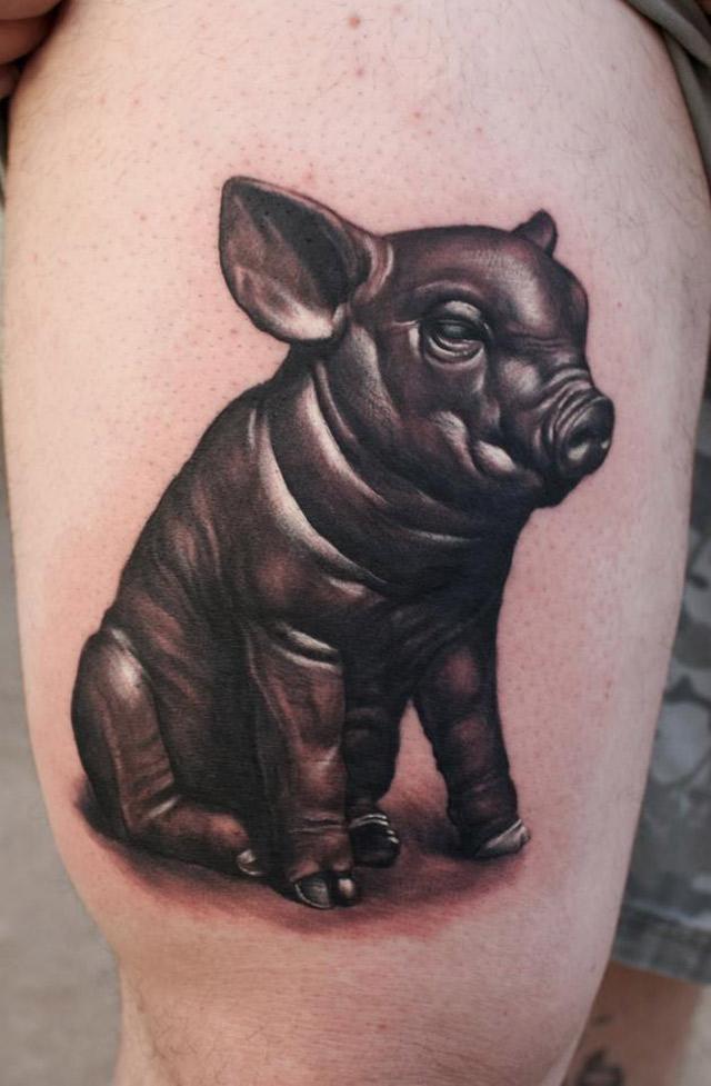 Cute Piglet Tattoo