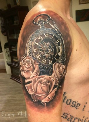 Pocket Watch & Roses