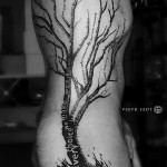 Tree Side Tattoo