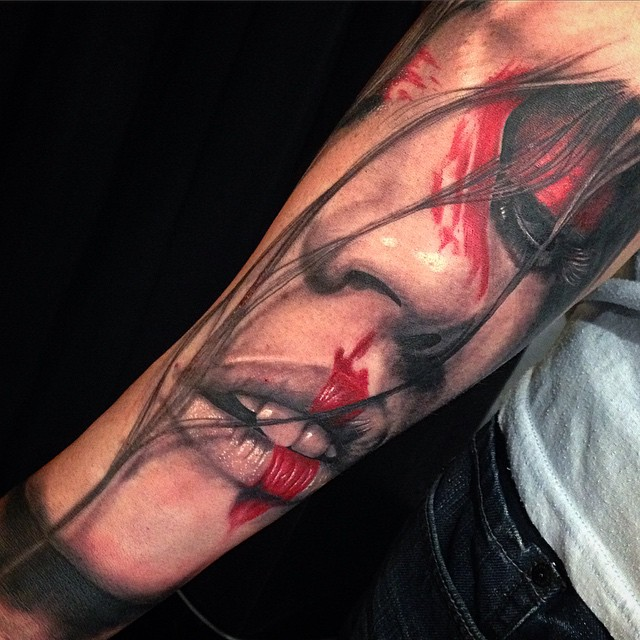 Realism Portrait Tattoo