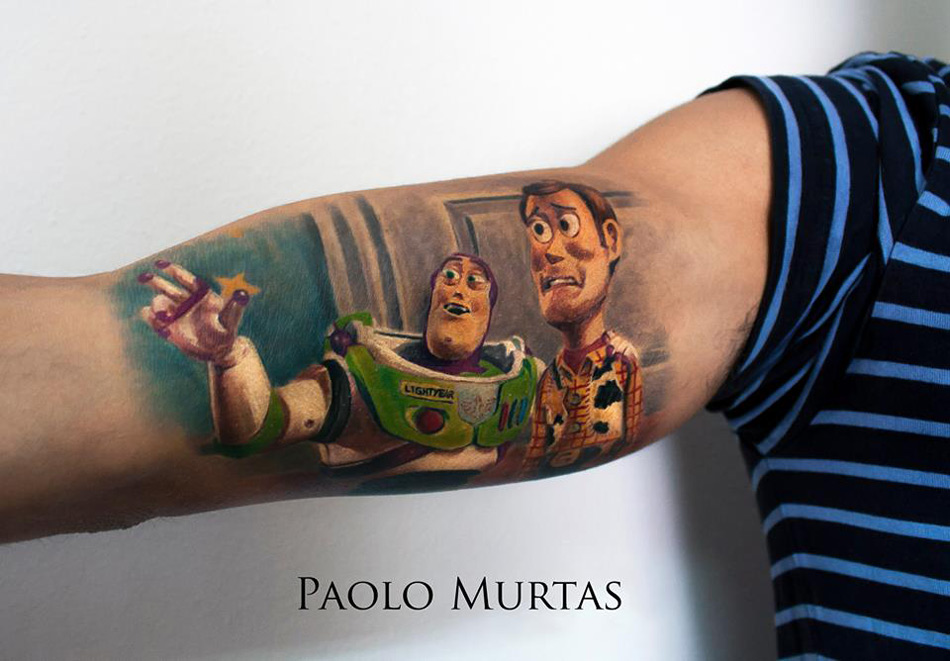 Buzz & Woody Toy Story Tattoo