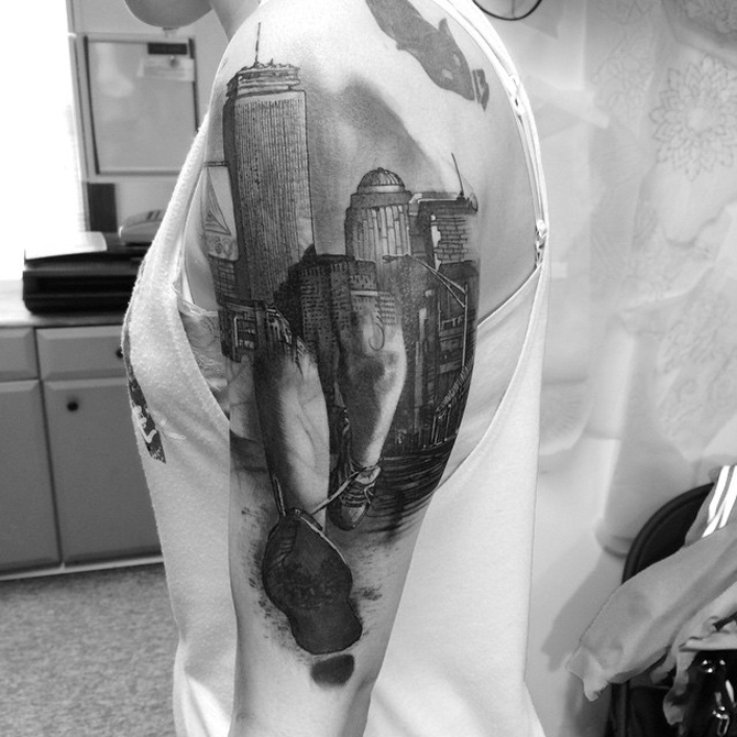 Boston Marathon Tattoo
