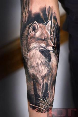 Realistic Fox Sleeve