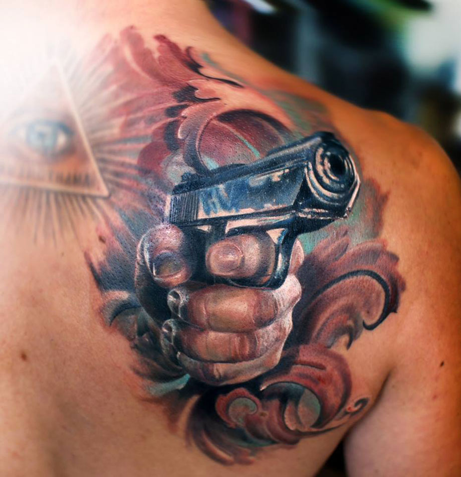 Gun Shoulder Blade Design