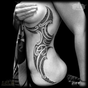 Maori Inspired Rib Piece
