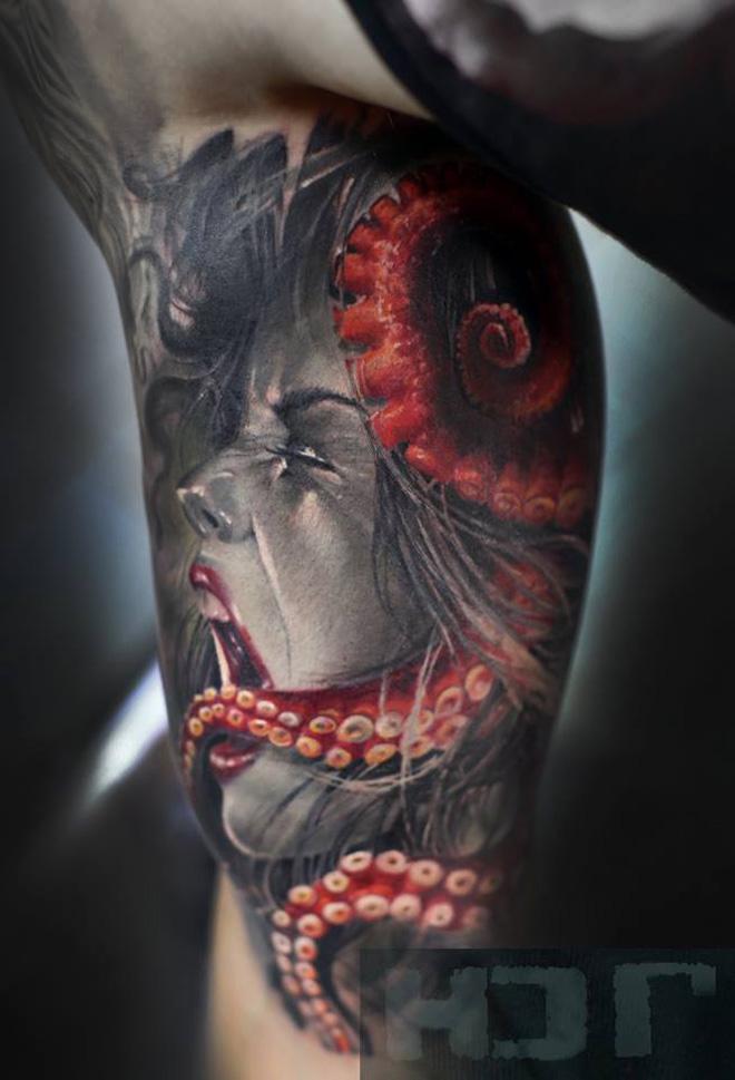 octopus strangulation best tattoo design ideas