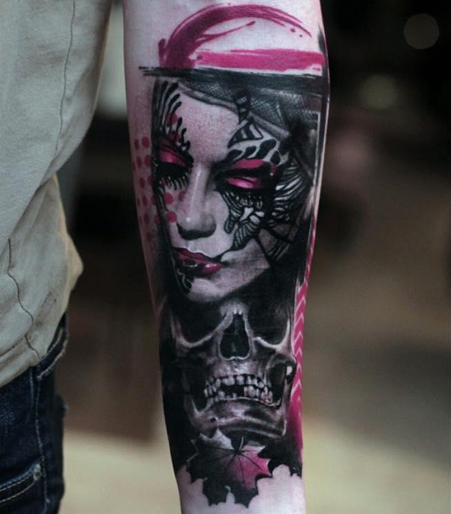 Portrait & Skull