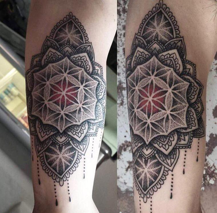 Pretty Mandala Tattoo