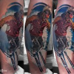 Snow Skier tattoo