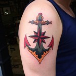 North Star & Anchor Tattoo