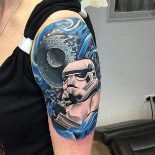 Death Star & Stormtrooper